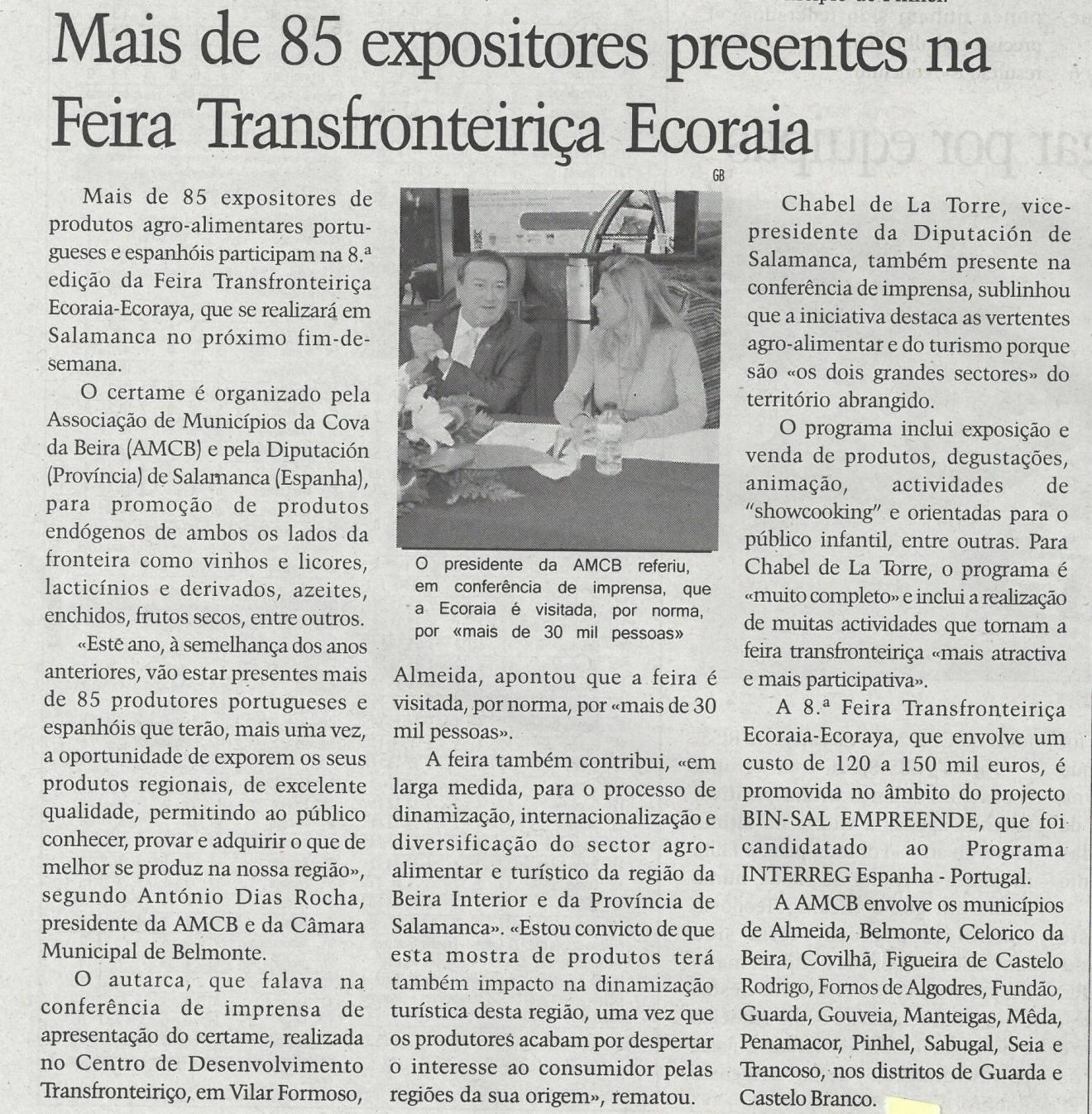Mais de 85 expositores presentes na Feira Transfronteiriça Ecoraia | Terras da Beira